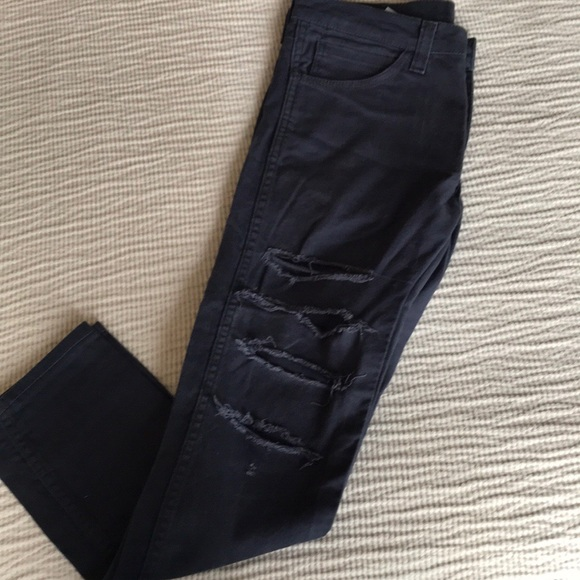 39aafde2a2a Levi's Jeans | Mens Levis 510 Navy Ripped | Poshmark